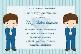 communion invitations boy personalised communion invitations boy new design 1