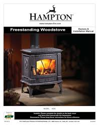 stove users guides from