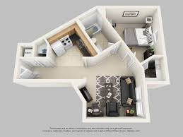 Furniture For 1 Bedroom Apartment by Bedroom Medium 1 Bedroom Apartments 3d Vinyl Pillows Lamp Bases