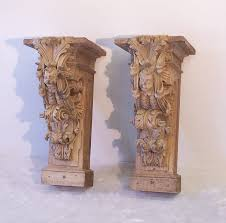 Wooden Corbels For Sale Pr 17th To 18th Century Architectural Carved Wood Corbels Item