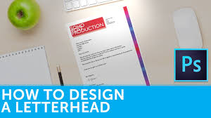 Business Letterhead Stationery Simple Design Templates How To Design A Letterhead In Adobe Photoshop Solopress Tutorial