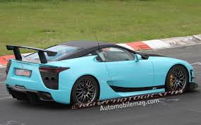lexus lfa 2019 spied wild teal lexus lfa seen on the u0027ring is it a special edition