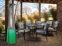 7 ft propane patio heater with stainless steel frame and multi