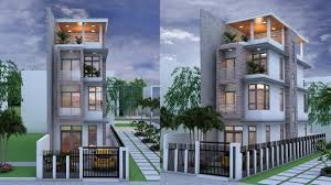 narrow house 4 stories house plan design sketchup lumoin 6