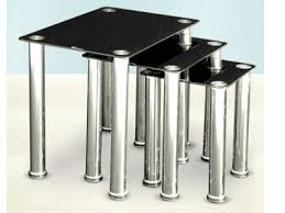 buy nest of tables cally nest of tables in black warehouse prestwich warehouse