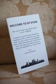 wedding hotel gift bags welcome to boston hotel gift bag insert pinteres