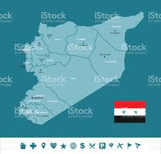 Syria World Map by Syria Infographic Map Stock Vector Art 492916374 Istock