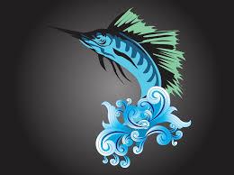 blue marlin vector graphics freevector com