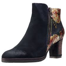 womens ankle boots uk ebay vita angela 14 womens ankle boots black floral shoes ebay