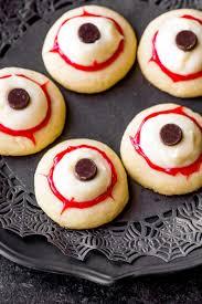 eyeball appetizers for halloween eyeball cookies homemade hooplah