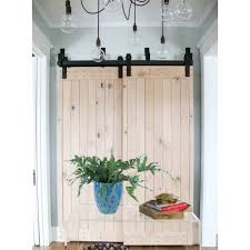aliexpress com buy 5 10ft bypass double sliding barn wood door