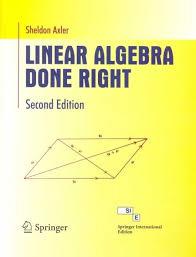 linear algebra done right 2 e pb 2nd edition buy linear algebra