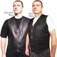 biker waistcoat men u0027s elite classic black leather vest waistcoat