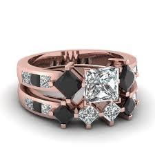 2 5 Cushion Cut Diamond Engagement Ring 18k Rose Gold Princess Cut Black Diamond Fascinating Diamonds
