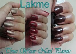 lakme true wear nail color manish malhotra metallics deep