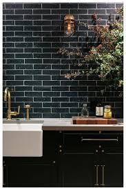 Black Subway Tile Kitchen Backsplash Kitchen Wonderful Kitchen Backsplash Matte Subway Tile Marble