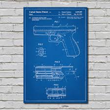what size paper are blueprints printed on glock pistol blueprint gun patent prints touch of modern