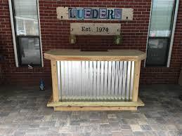 Outdoor Patio Bar The Metal Foo Bar 6 U0027 Rustic Corrugated Metal And Treated Wood U