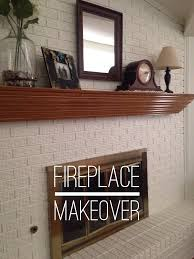 blue jeans and turquoise 1980 u0027s brick fireplace makeover
