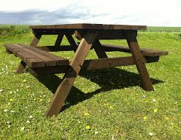 pub style picnic table bench 6ft heavy duty hand made