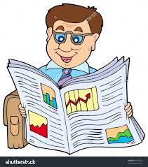 newspaper reading clipart clipartxtras