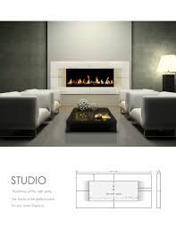 concrete fireplace surrounds contemporary living room