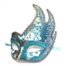 blue masquerade masks masks polyvore