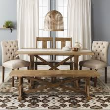 Entranching Farm Table Collection Wood Multiple Colors Threshold