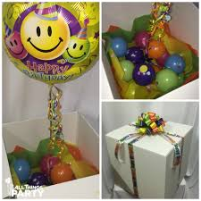send birthday balloons in a box send a gift balloon bouquet collections all things party