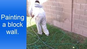 painting exterior cinder block walls youtube