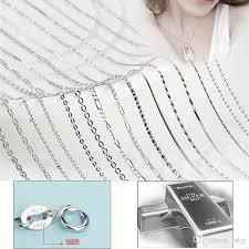 silver necklace styles images Wholesale s925 silver necklaces fashion 10 styles snake chain jpg