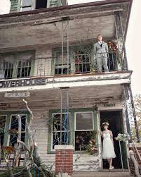 a unique wedding in an old flower filled detroit house martha