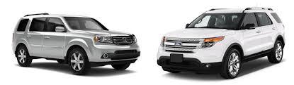 compare honda pilot and ford explorer honda pilot vs ford explorer brannon honda reviews specials and