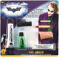amazon com batman the dark knight joker deluxe makeup kit clothing