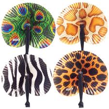 folding fans animal print folding fans partypalooza