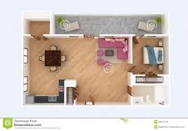 House Plans For A View 3d Floor Plan Section Apartment House Interior Overhead Top View