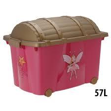 treasure chest toy box fairy girls kids storage organizer