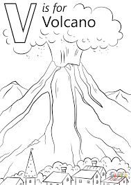 volcano coloring page dora and erupting volcano coloring page