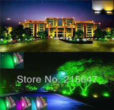 Rgb Landscape Lights 10w Outdoor Garden Light Waterproof Rgb Color Changing Flashlight