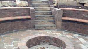 fire pit with seating gorgeous waterfall and sunken fire pit youtube