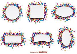 party confetti confetti party label vectors free vector stock
