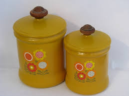 retro canisters kitchen 70s vintage west bend aluminum kitchen canisters retro flower power