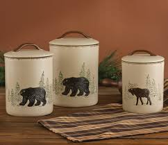western kitchen canister sets cabin kitchen decor for your home at black forest decor