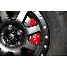 jeep rubicon silver 2 door mgp 42007sjplrd jeep wrangler jk brake caliper cover set red 2007 18