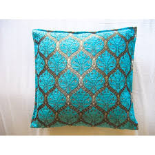 turquoise ottoman cushion cover