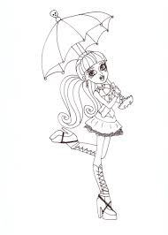 free printable monster high coloring pages draculaura with