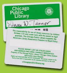 my chicago library card steveandamysly
