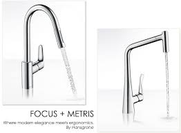hansgrohe kitchen faucets hansgrohe metris and focus kitchen faucets interior design center