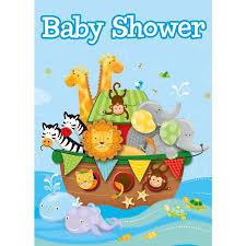 noah ark baby shower noah s ark baby shower invitations 8 count walmart