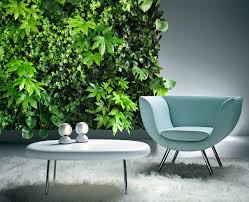 sweet natural indoor green wall design with vertical house plants